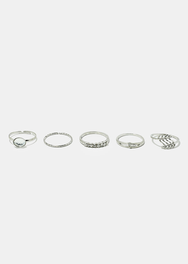 5-Piece Multi Design Toe Rings