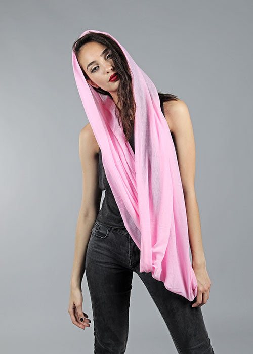 Soft & Light Infinity Scarf- Pink