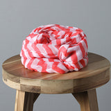 Lightweight Infinity Scarf- Coral Chevron