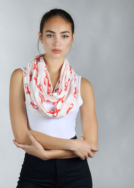Red Ribbon Lightweight Scarf
