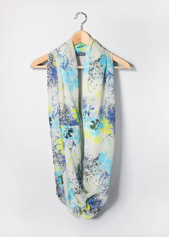 Lightweight Flower Print Scarf