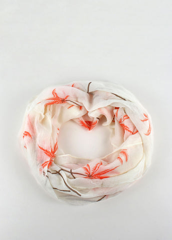 Lightweight Palm Trees Scarf- Orange