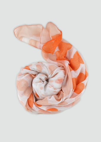 Lightweight Polka Dot Scarf- Peach
