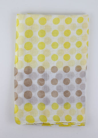 Lightweight Polka Dot Scarf- Yellow