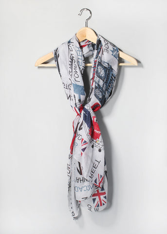 Great Britain Scarf- Grey