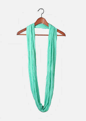 Long Lightweight Infinity Scarf- Mint
