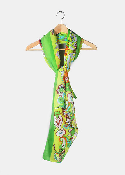 Lightweight Boho Scarf- Green