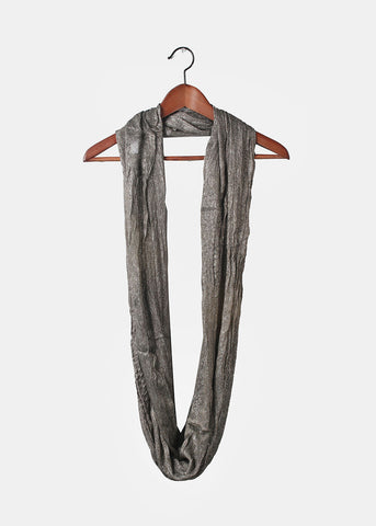Shimmer Infinity Scarf- Dark Brown