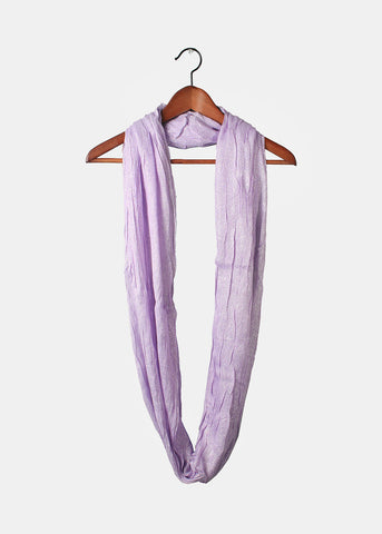 Shimmer Infinity Scarf- Purple/Silver