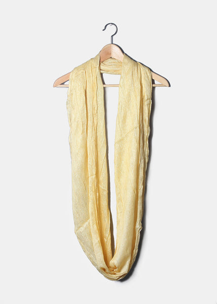 Shimmer Infinity Scarf- Yellow