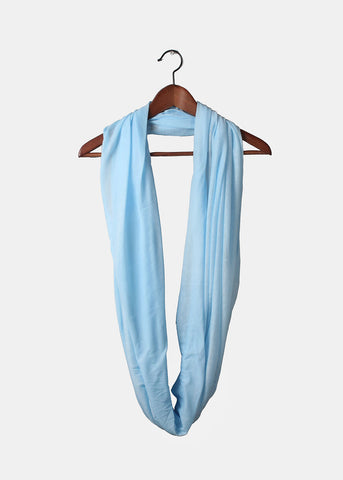 Jersey Infinity Scarf- Light Blue