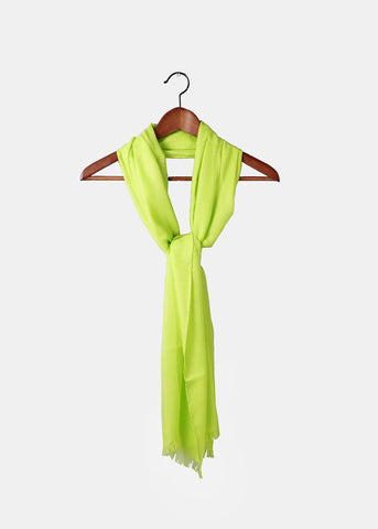 Lightweight Solid Color Scarf- Lime