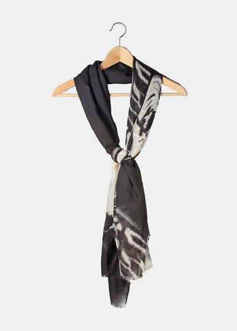 Abstract Design Scarf- Black