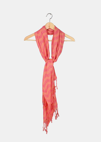 Wavy Shimmer Scarf- Pink