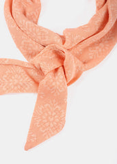 Flower Lace Skinny Scarf- Peach