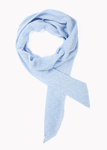 Flower Lace Skinny Scarf- Blue