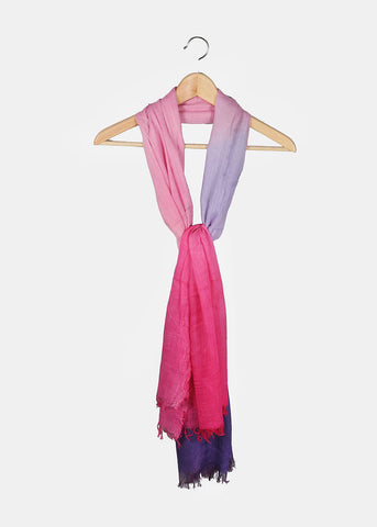 Lightweight Two-Tone Scarf- Purple/Pink