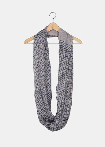 Diamond Design Infinity Scarf- Black