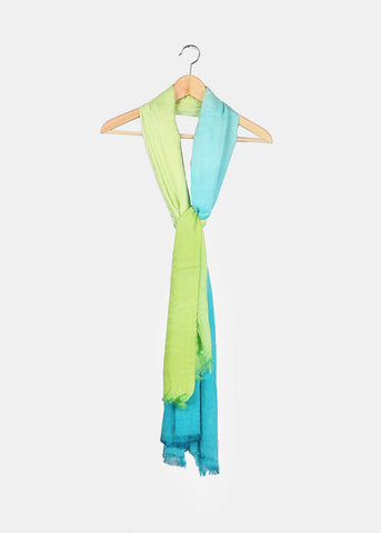Lightweight Two-Tone Scarf- Green/Blue