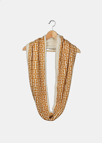 Soft Double-Sided Infinity Scarf- Mustard