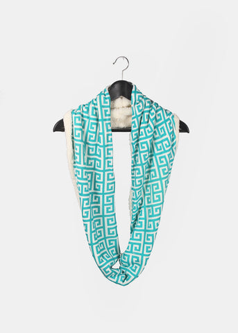 Soft Double-Sided Infinity Scarf- Teal