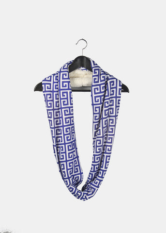 Soft Double-Sided Infinity Scarf- Blue