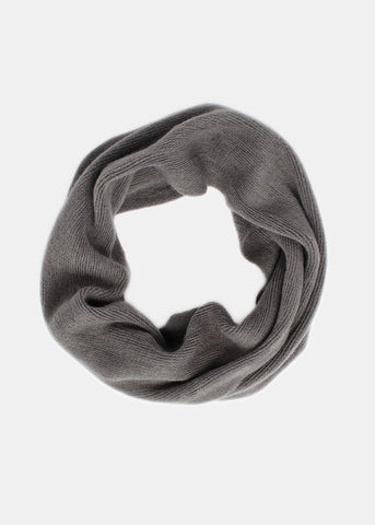 Lightweight Wool Infinity Scarf- Charcoal