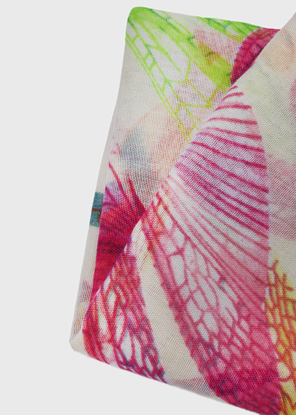 Lightweight Dragonfly Scarf- White/Pink