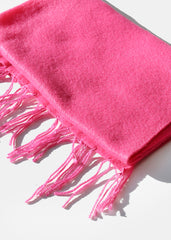 Solid Winter Scarf- Pink