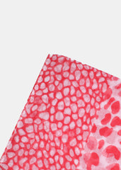 Lightweight Animal Print Scarf- Pink