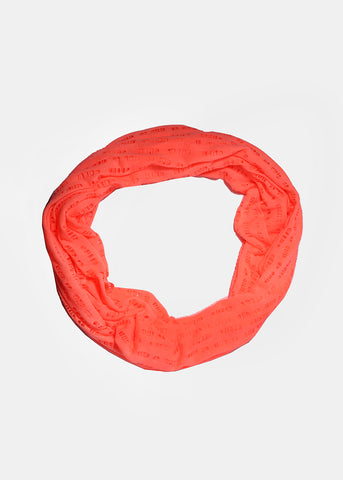 Lightweight Ripped Infinity Scarf- Coral