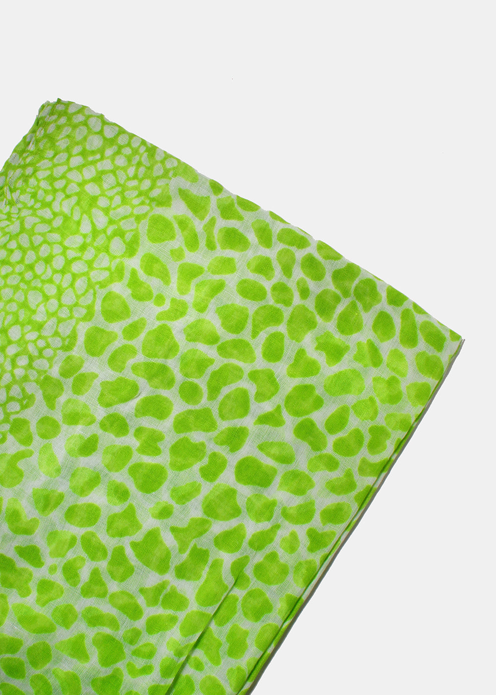 Lightweight Animal Print Scarf- Green