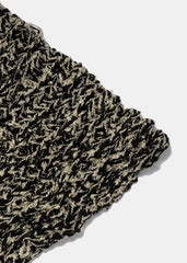 Black & Beige Knit Scarf