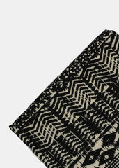 Soft Tribal Print Scarf- Black