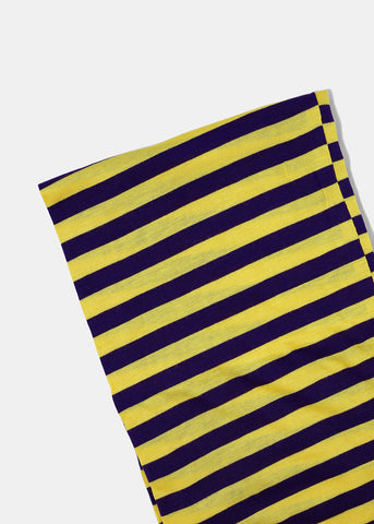 Solid & Striped Jersey Scarf- Purple/Yellow