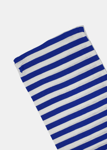 Solid & Striped Jersey Scarf- Blue/White