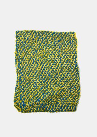 Two-Tone Knit Infinity Scarf- Yellow