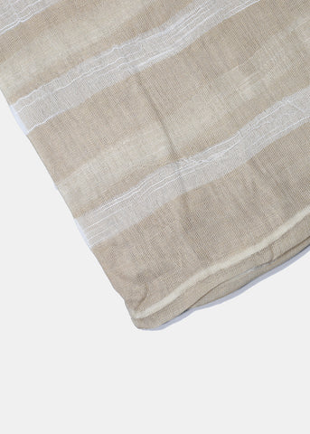 Striped Mesh Scarf- Taupe