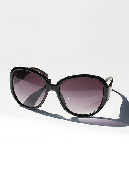 Modern Print Sunglasses- Black