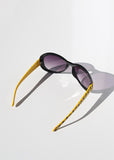 Skull Print Sunglasses- Yellow