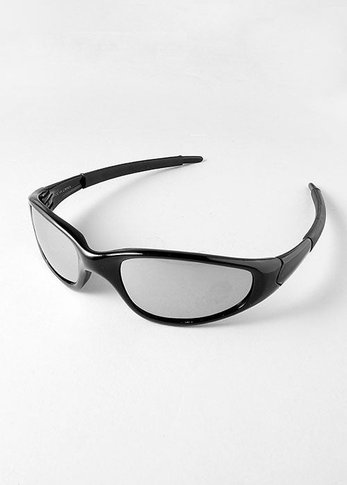 Sporty Sunglasses- Black/Silver