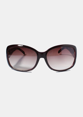 Designer-Inspired Sunglasses- Purple