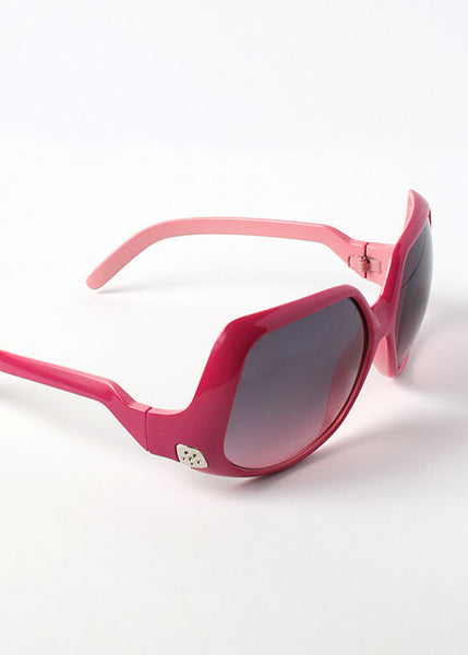 Two-Tone Retro Sunglasses- Pink