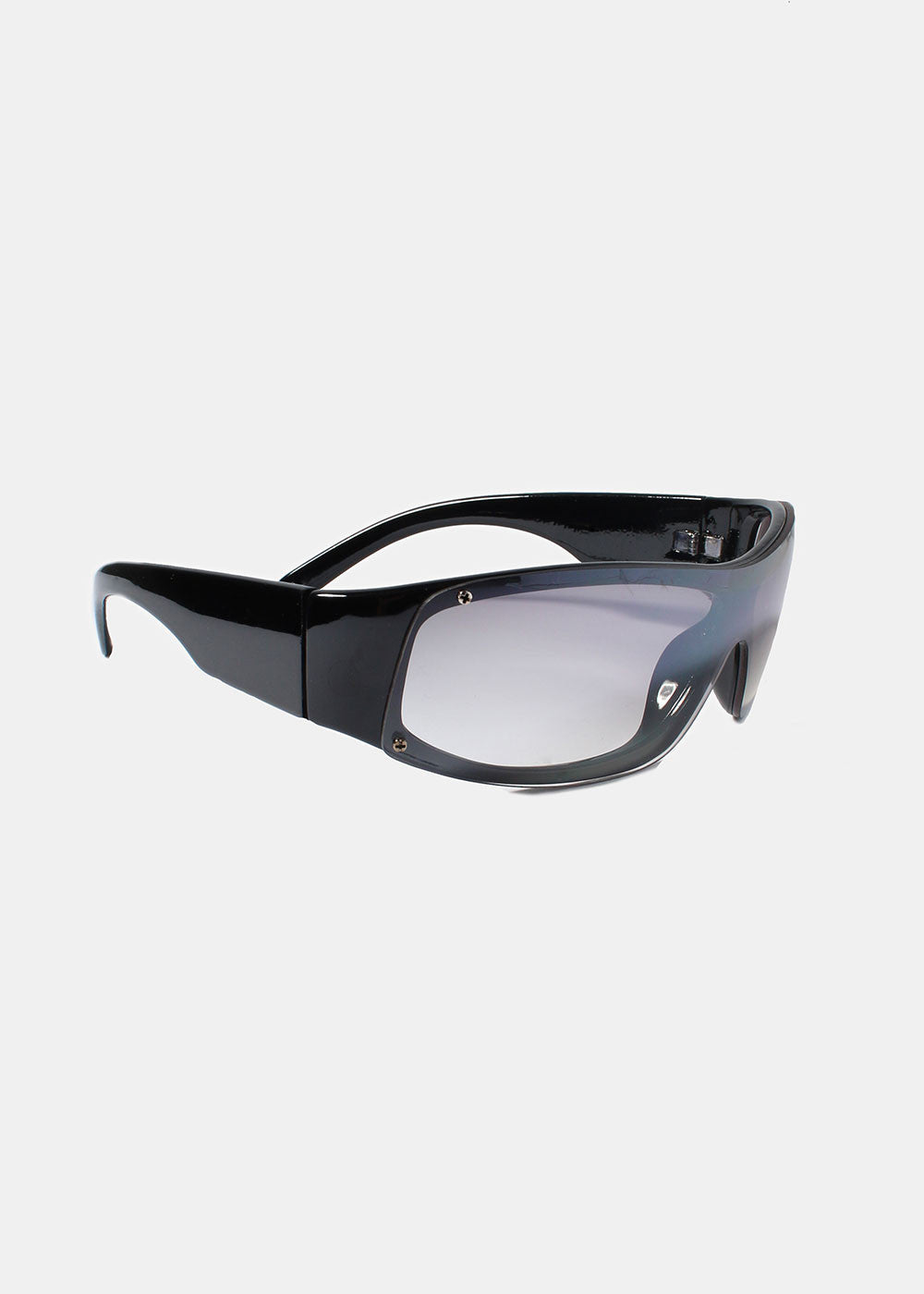 Rectangle Rimless Sunglasses- Black