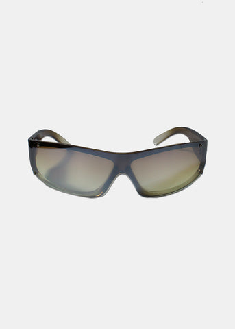 Rectangle Rimless Sunglasses- Green