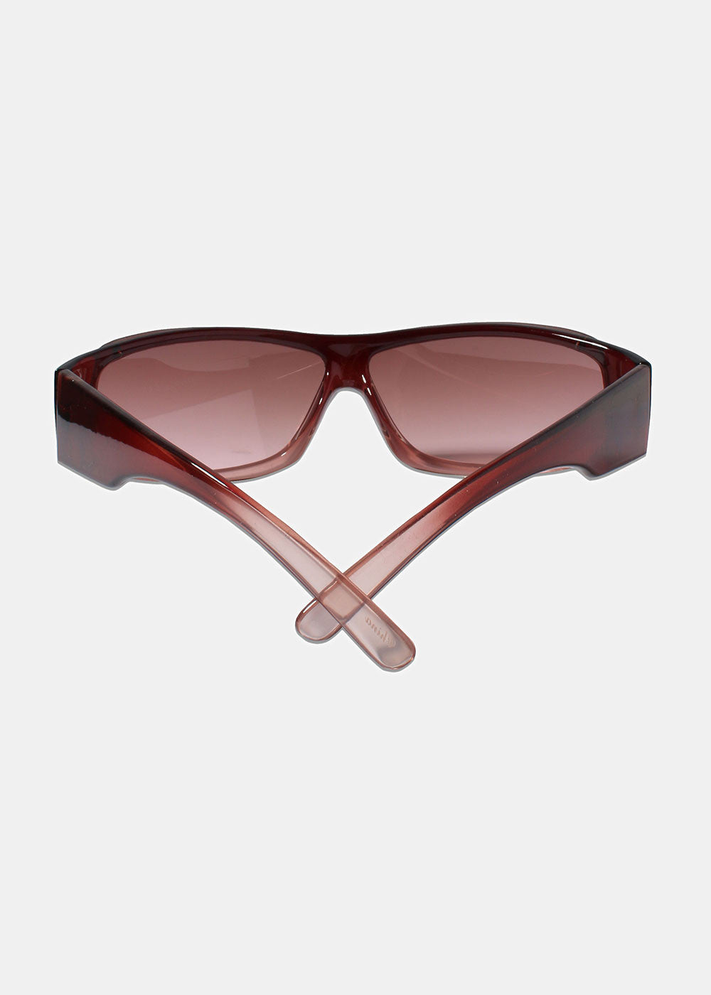 Rectangle Rimless Sunglasses- Pink