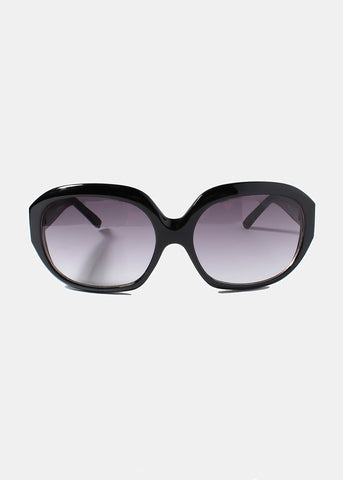 Round Dotted Sunglasses- Black