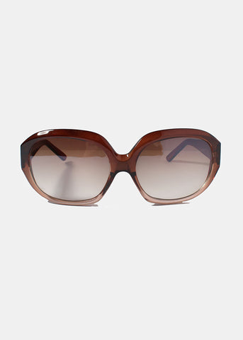 Round Dotted Sunglasses- Brown