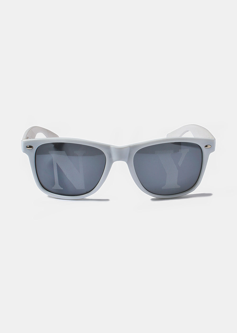 NY Square Sunglasses- White