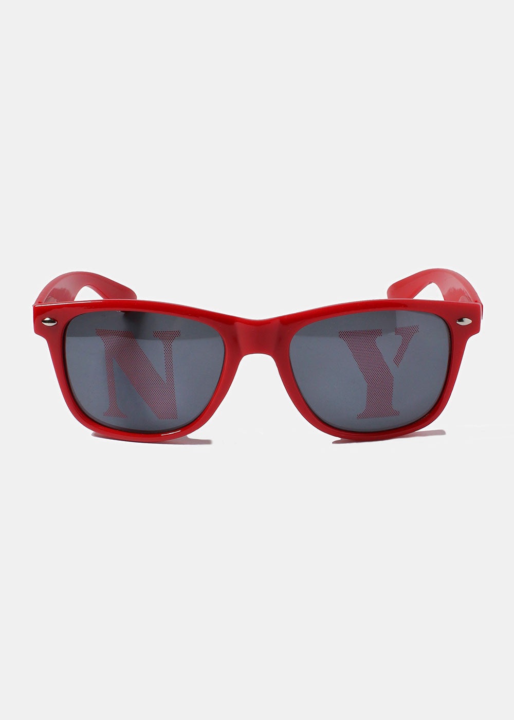 NY Square Sunglasses- Red